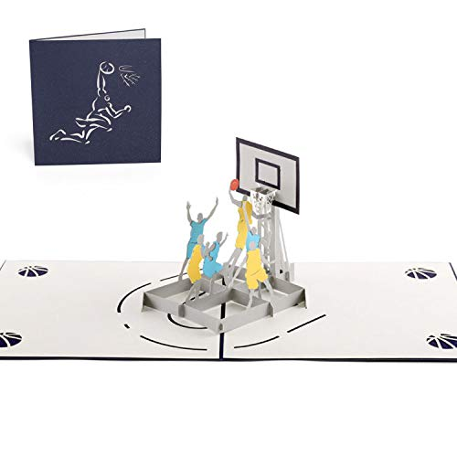 Paper Spiritz Slam Dunk Pop up Birthday Cards, 3D pop up Card Mothers Day Anniversary all Occasion, Thank You Greeting Card for Kids Boy Husband