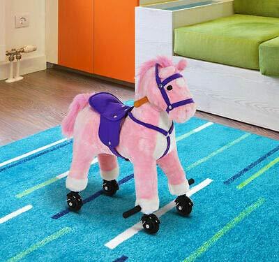 Amazon com: Kids Plush Ride on Horse Riding Walking Pony Child Toy