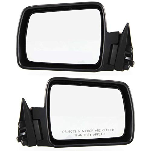 Manual Mirror compatible with Jeep Cherokee 84-93 Right and Left Side Non-Folding Non-Heated Paintable