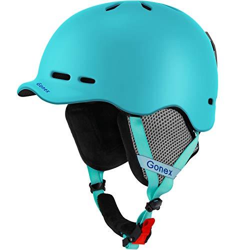 (Gonex Ski Helmet, Snow Snowboard Helmet with Detachable Inner Padding, Lightweight Helmet for Women & Young Size L Light Blue)