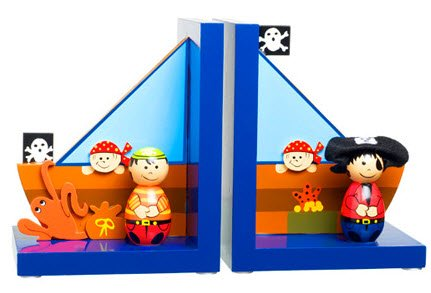 (Pirate Wooden Bookends)
