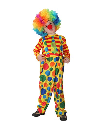NonEcho Child Hoopy The Clown Costume for Kids, Boys, Girls, x-Large Yellow -