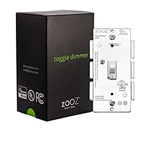 Zooz Z Wave Plus Toggle Dimmer Light Switch Zen24 Ver 2 0