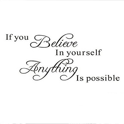 AIMTOPPY Believe Anything is Possible Inspirational Wall Sticker Decals DIY BK by AIMTOPPY (Image #1)