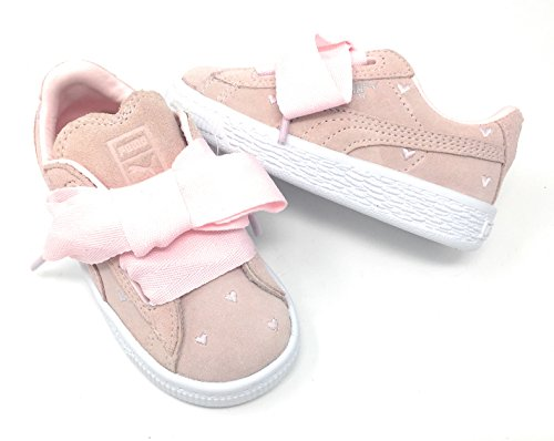 Galleon - PUMA Kids Baby Girl s Suede Heart Valentine (Toddler) Pearl Pearl  5 M US Toddler 6394d651f