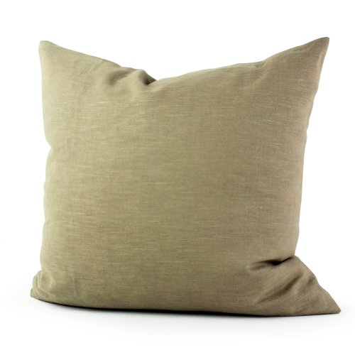 Lavievert Decorative Ramie Cotton Square Throw Pillow Cover