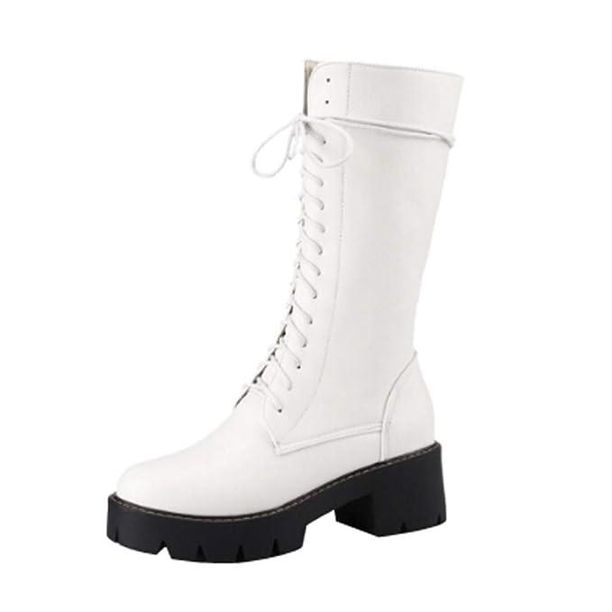 Otoño e Invierno Boots para Mujer Correa Cruzada Zapatos Planos ...