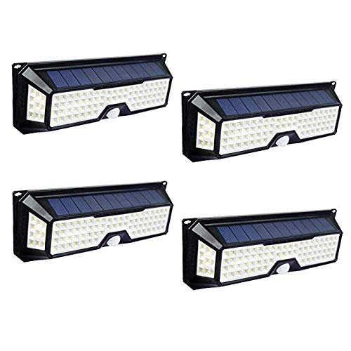 ECO LLC Solar Lights 136 LED Waterproof Outdoor Wall Lights Wireless Solar Motion Sensor Lights for Front Door,Backyard, Garage,Porch,Deck, Driveway(4 Pack) by ECO LLC (Image #9)