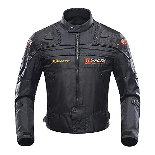BORLENI Motorradjacke Herren Motorrad Jacke Wasserdicht Winddicht mit Protektoren Protektoren Jacke Roller Biker Touren…