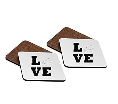 Love Kentucky 4''x4'' Hardboard Coasters - Set of 4