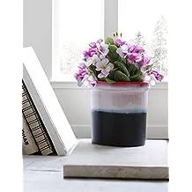 Decorative Jar Planter Flower Pot Ceramic Black & White Bin Containers Rack for Indoor Outdoor Garden Lawn Display Ideal Home Garden Party Supplies