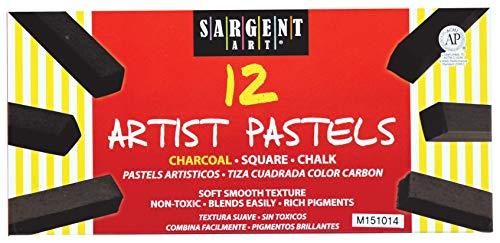Sargent Art 22-4115 12-Count Charcoal Square Pastels