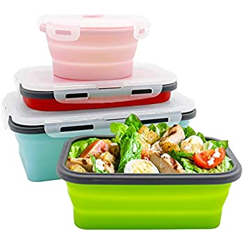 Amazon Com Potinv Collapsible Lunch Box Silicone Food