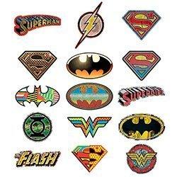 15 DC Comic Logo Stickers - Set of 15 Batman, Superman, Wonder Woman, Flash, Green Lantern Stickers