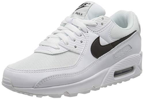 Nike Womens Air Max 90 Womens Running Casual Shoes Cq2560-101 Size 7.5 White/Black/White