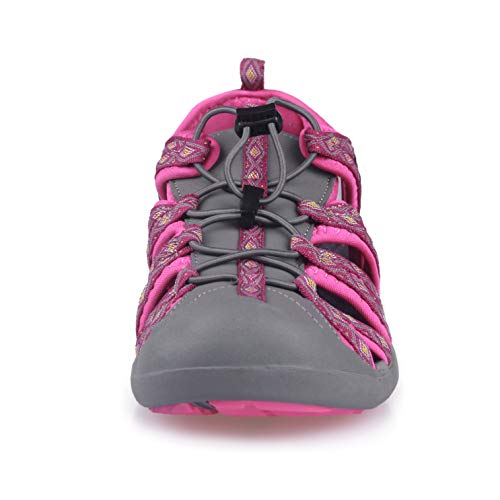 Pictures of GRITION Women Athletic Hiking Sandals Closed Toe 1801BLM 6