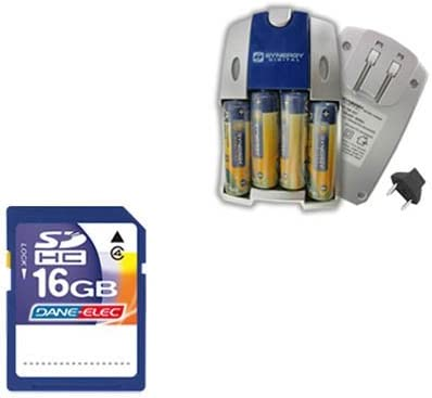 SB257 Charger SD4//16GB Memory Card Nikon Coolpix L820 Digital Camera Accessory Kit includes