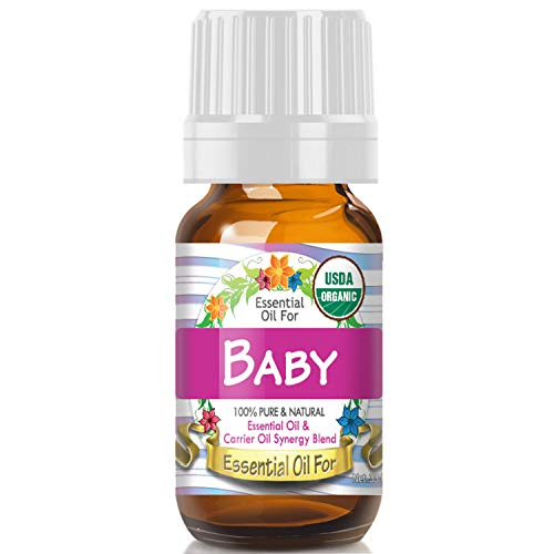 Essential Oil for Baby (USDA Organic - 100% Pure) Unique Blend of Essential Oils Recomended by Aromatherapists for Aromatherapy - 10ml