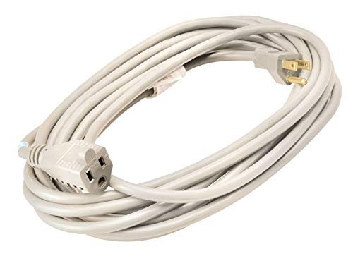 Indoor Outdoor Extension Cord - Coleman Cable Outdoor Extension Cord In White (20 Ft, 16 gauge)