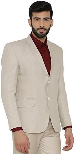 WINTAGE Herren Leinen Tailored Fit Solide Abend//Casual Blazer Mantel Jacke Mehrere Farboptionen