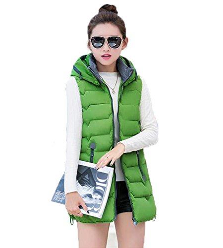 トムオードリースホイッスルみGuDeKe冬 女性 ファッション 暖かい 中綿入り コート ベストコート フード付き ベスト ジャケットガールズ 長い 段落 中綿入り コート ベスト
