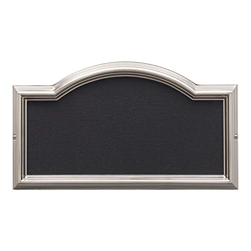 Arch Plaque Frame - Whitehall Products Standard Wall DeSign-it Arch Plaque Frame, Brushed Nickel