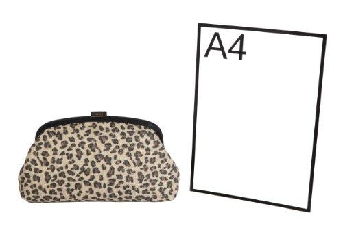 toile sac main impression à et léopard Berg Crème animal Olga sac imprimé noir ou bandoulière par 1w0C1FYq