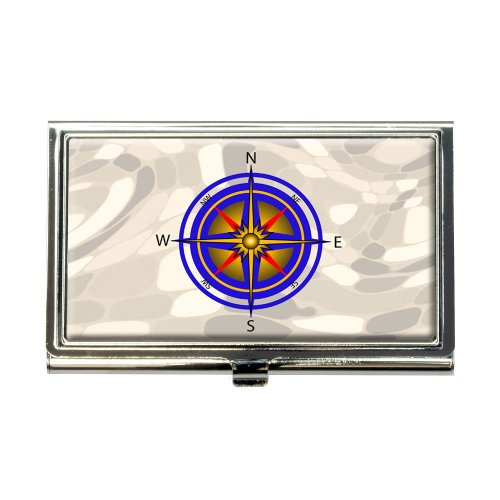 Compass Nautical North South East West Business Credit Card Holder Case