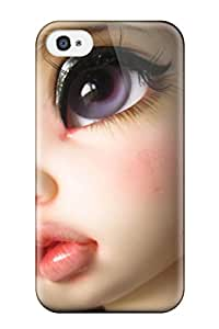 Tpu Case Cover For Iphone 4/4s Strong Protect Case - Toys Doll Girls Women Face Lips Animeheads Design