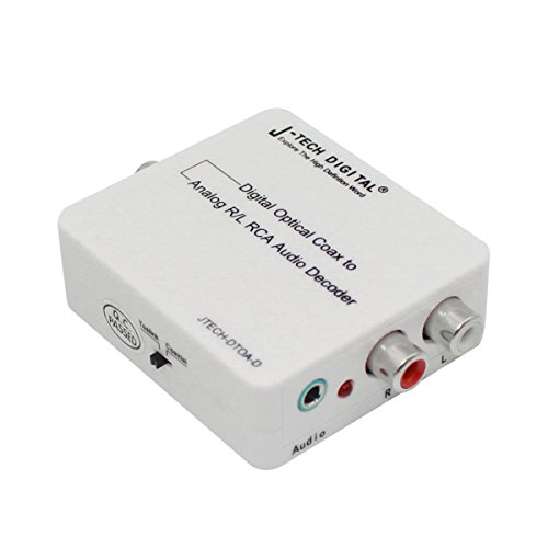 J-Tech Digital Optical SPDIF Toslink / Coaxial Digital to Analog Audio Decoder Converter with PCM , 5.1 Dolby Digital & DTS