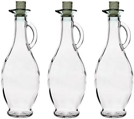 casavetro Tapón de Corcho Transparente Botellas de Vidrio vacías 250 ml - Tapas de Corcho Recargables Reutilizables - Apretado al Aire para endrinas Gin Aceite Vinagre Cerveza Vino Sidra(12 x 250 ml)