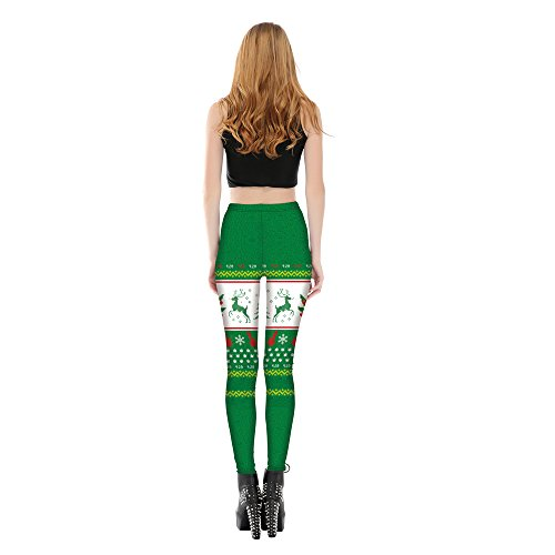fulvo Pattern Verde Pants Long Acvip Legging Woman Jogging Yoga Sport Natale fx01v4