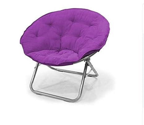 Awe Inspiring Urban Shop Wk659920 Contemporary Plush Microsuede Saucer Chair Solid Iris Forskolin Free Trial Chair Design Images Forskolin Free Trialorg