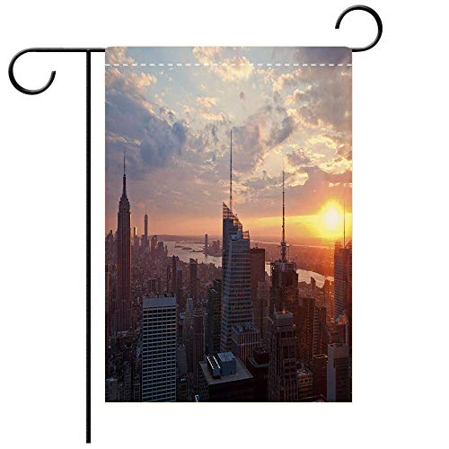 (BEICICI Custom Personalized Garden Flag Outdoor Flag Manhattan at New York City Best for Party Yard and Home Outdoor)