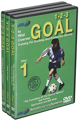 Wiel Coerver 123 Goal Training For Exciting and Productive Soccer 3 DVD Set