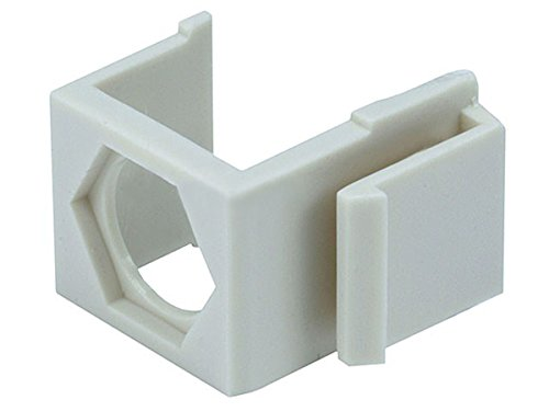 Monoprice Blank Insert for F type connector - 10pcs/Pack (Ivory) Ivory Blank Keystone Insert