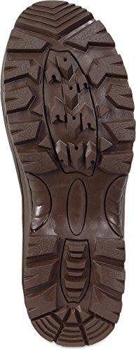 Taktische 9-Loch Stiefel aus Wildleder - Ideal für kältere Tage mit Thinsulate Insulation Braun