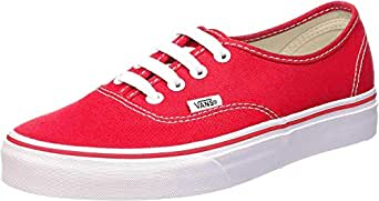 Vans Unisex Authentic Red Canvas VN000EE3RED Mens 4, Womens 5.5