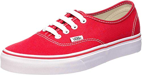 Vans Authentic Original Sneakers - red, men's 8, women's 9.5 (Red Vans Shoes Men)