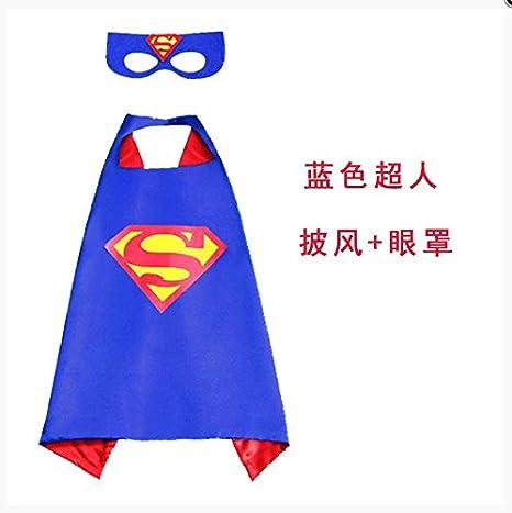 dduuoo Dduoo Capa de Superman para niños, Disfraz de Capitán ...