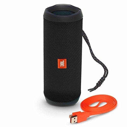 JBL Flip 4 Waterproof Portable Bluetooth Speaker - Black (Best Sounding Cell Phone 2019)