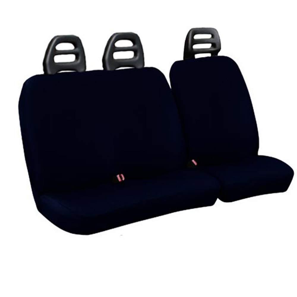 Lupex Shop C.B BS Fundas para Asientos para Furgoneta 3/plazas cintur/ón Bajo de Algod/ón Azul Oscuro Compatibles para Fiat Escudo a/ño 2000/