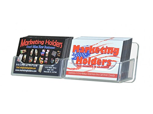 Horizontal Multi Card Holder - Marketing Holders 2 Pocket Horizontal Clear Pockets Wall Mounting Business Card Holder
