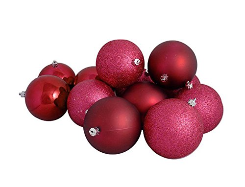 Vickerman 16ct Red Raspberry Shatterproof 4-Finish Christmas Ball Ornaments 3