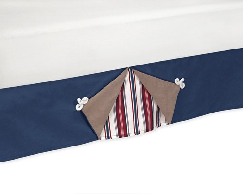Sailboat Toddler Bedding (Nautical Nights Sailboat Bed Skirt for Toddler Bedding Sets by Sweet Jojo Designs)