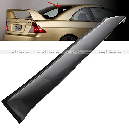 Remix Custom Roof Visor for 2001-2005 Honda Civic 2 Door Coupe Rear Roof Window Guard Visor Spoiler Wing ()