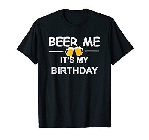 (Beer Me It's My Birthday T-shirt Emoji Birthday Gifts Tee)