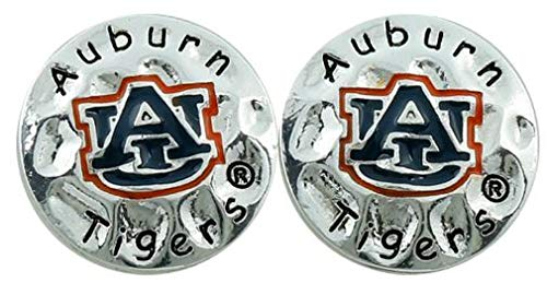 Auburn Tigers Circular Script Eunice Stud Post Earrings by Sandol ()