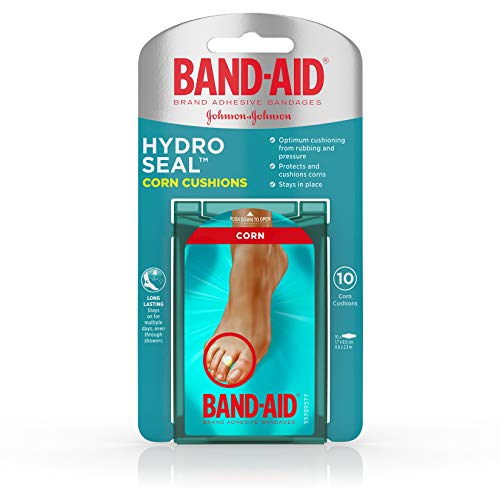 Band-Aid Brand Hydro Seal Corn Cushion Bandages, Waterproof Corn Pads, Medium, 10 ct (Treatment For Soft Corn In Between Toes)