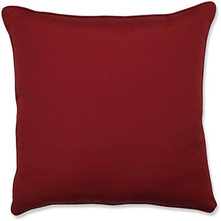 Pillow Perfect Outdoor Indoor Pompeii Floor Pillow, 25 x 25 , Red